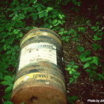Illegally Dumped Cyanide Container